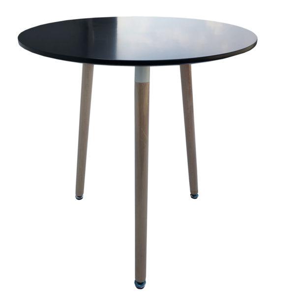 masa pentru bucatarie cafea negru rotunda