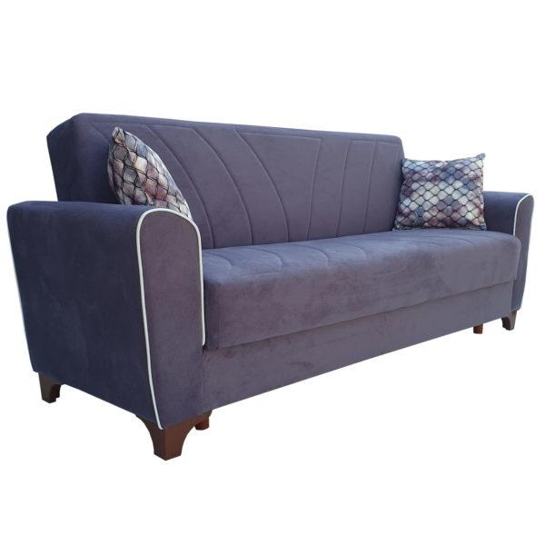 Canapea mov cu arcuri extensibila lada depozitare